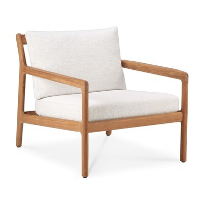Jack Sofa Outdoor 1 Sitzer - Teak, off white