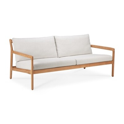 Jack Sofa Outdoor 2 Sitzer - Teak, off white