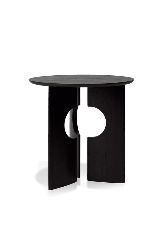 Cove Sidetable - Teak, schwarz