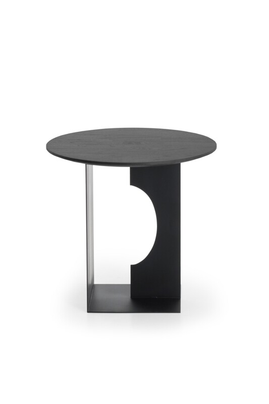 Arc Sidetable - Teak, schwarz