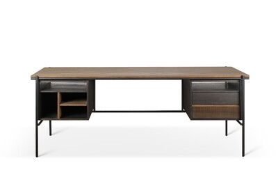 Oscar Schreibtisch - Teak, mit 2 Schubladen