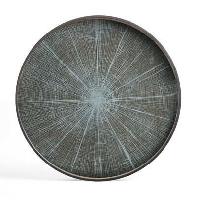 Tablett rund, 92cm - Holz, White Slice