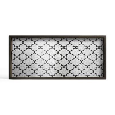 Tablett rechteckig, M - Spiegelglas, Bronze Gate