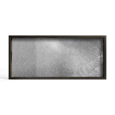 Tablett rechteckig, M - Spiegelglas, Frost