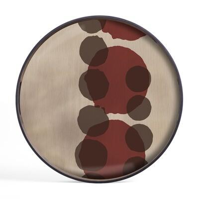 Tablett rund, 48cm - Glas, Pinot Layered Dots