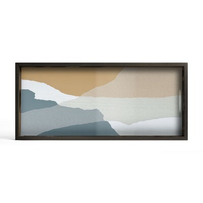 Tablett rechteckig, M - Glas, Slate Wabi Sabi