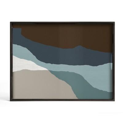 Tablett rechteckig, L - Glas, Graphite Wabi Sabi