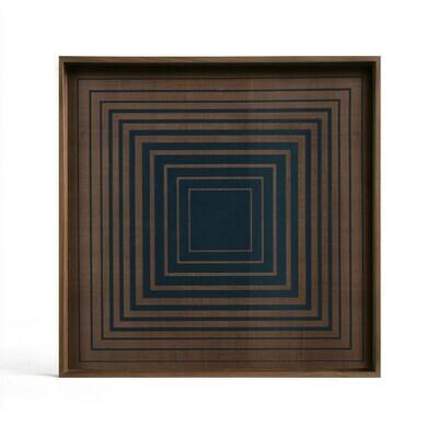 Tablett quadratisch, 38cm - Glas, Ink Square