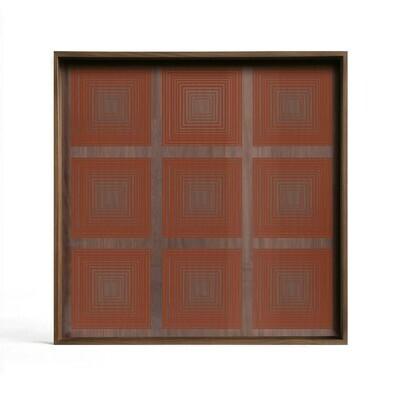Tablett quadratisch 38cm - Glas, Pumpkin Squares