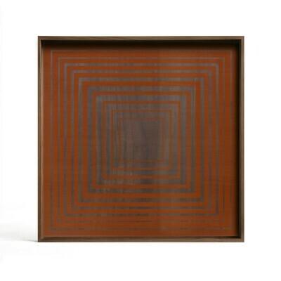 Tablett quadratisch, 51cm - Glas, Pumpkin Square