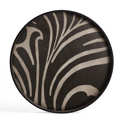 Tablett rund, 61cm - Holz, Folk Tray