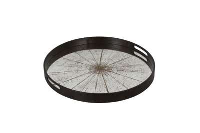 Tablett rund, 48cm - Spiegelglas, Slice Mirror
