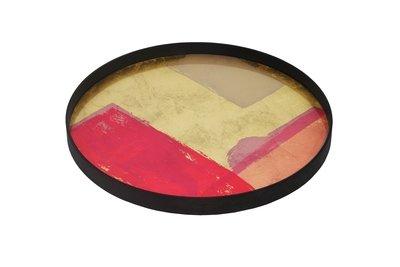 Tablett rund, 61cm - Glas, Raspberry Landscape