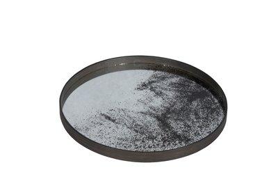 Tablett rund, 61cm - Spiegelglas, Heavy Aged