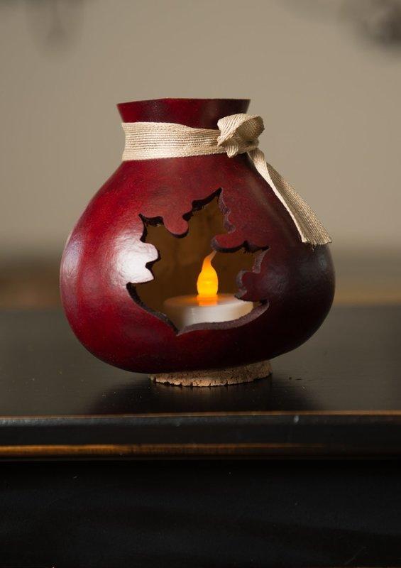 Leaf Vase- Mahogany
