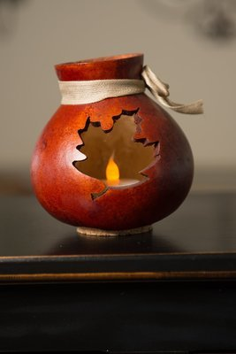 Leaf Vase- Burnt Orange