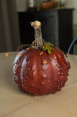 Textured Pumpkins- Burnt Orange