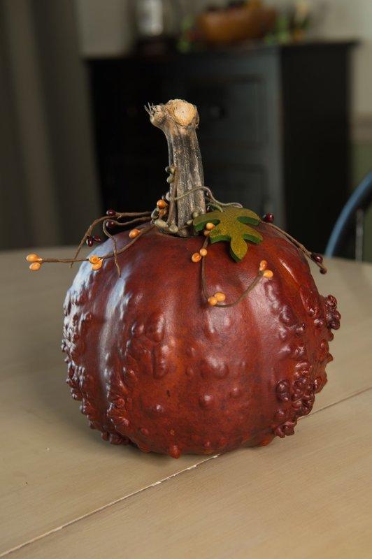 Textured Pumpkins- Burnt Orange