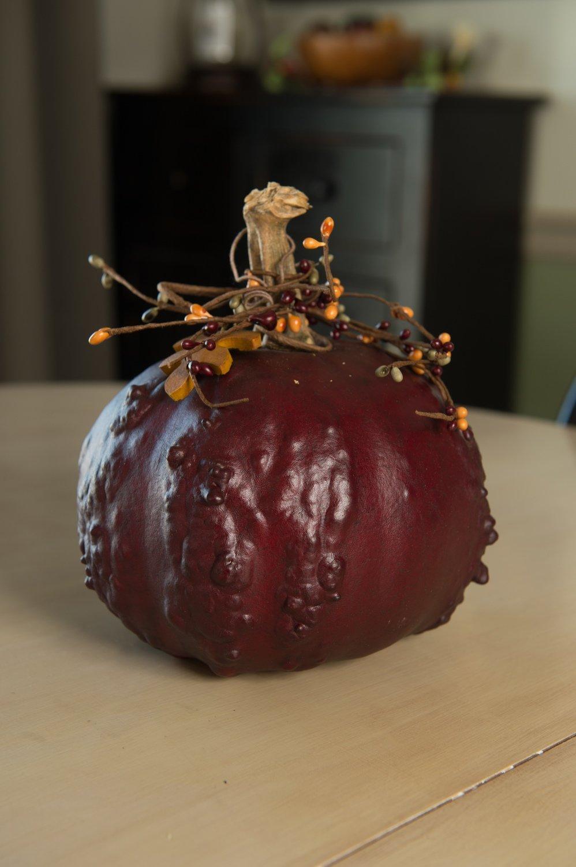 Textured Pumpkins- Mahogany