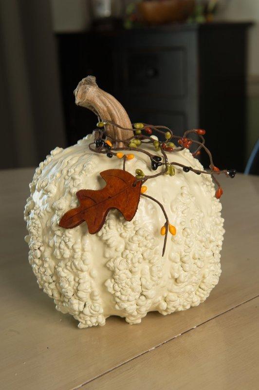 Textured Pumpkins- White