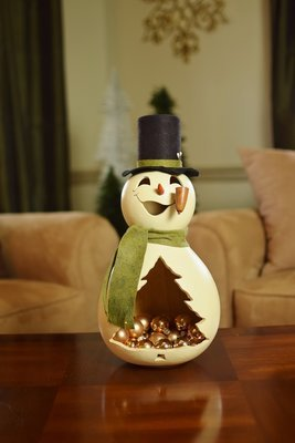 MB Snowman- Large Candy Dish