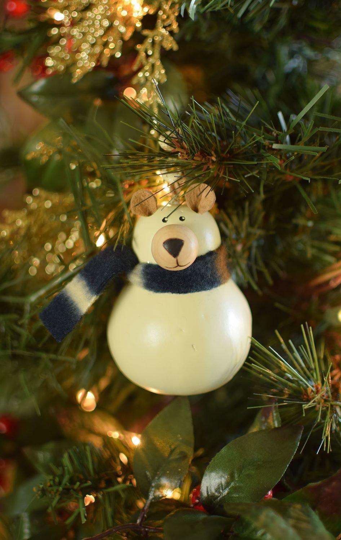 Dakota Polar Bear Gourd ornament