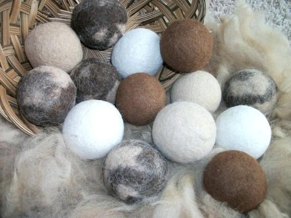 Alpaca Dryer Balls- Natural color