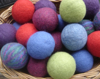 Alpaca Dryer Balls-  Color Dyed