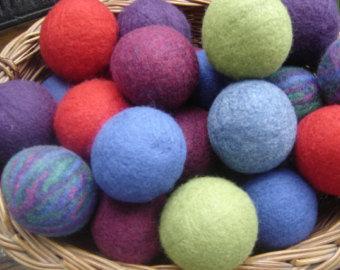 Alpaca Dryer Balls-  Color Dyed