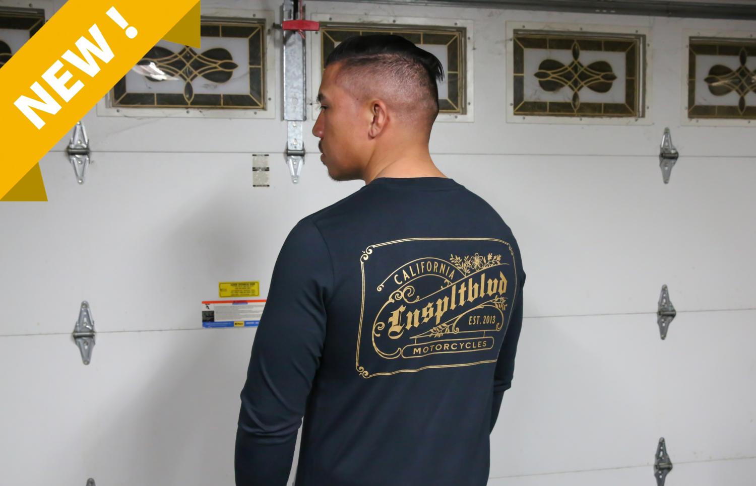 """""""Stay Golden"""" Long sleeve (NAVY)"""