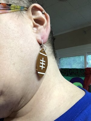 Game day earrings