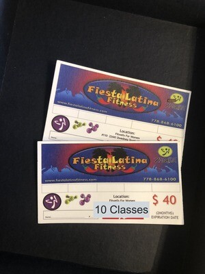 10 Classes PUNCH CARD