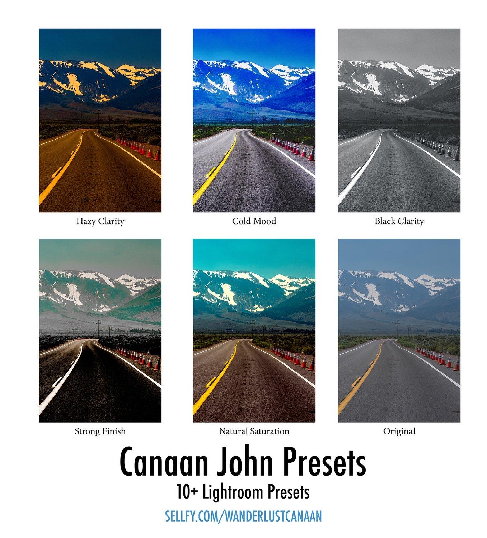 Canaan John Lightroom Presets