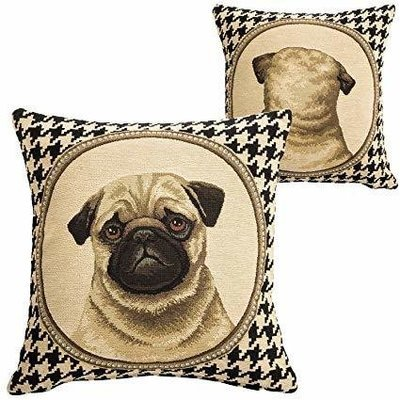 Double sided pug pillow