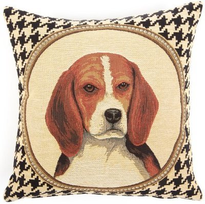Double sided beagle pillow