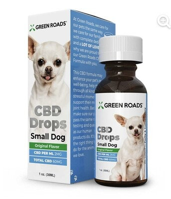 CBD Drops Small Dogs (15 pounds or less)
