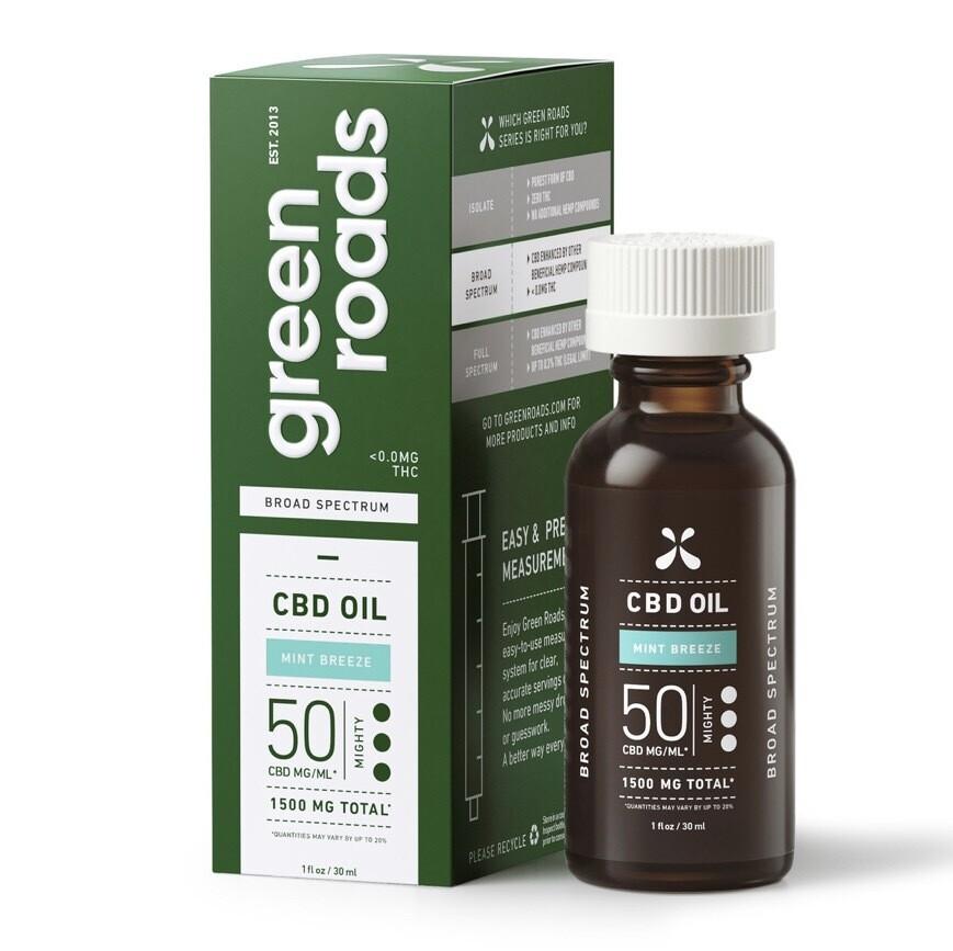 Mint Breeze, Broad Spectrum CBD Oil, 50MG/ML