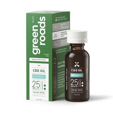 Mint Breeze, Broad Spectrum CBD Oil, 25MG/ML