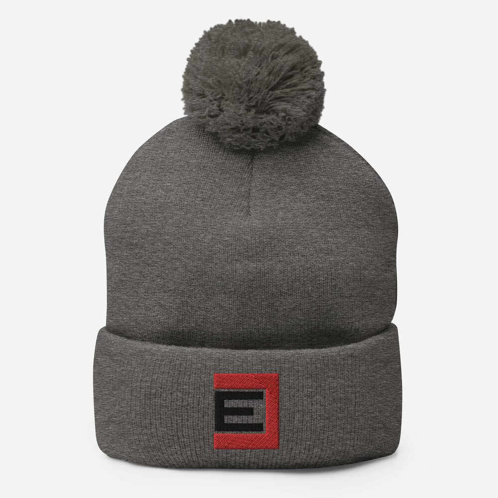 REBEL E- Pom Pom Knit Hat