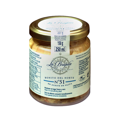 La Brujula N51 White Tuna in Olive Oil