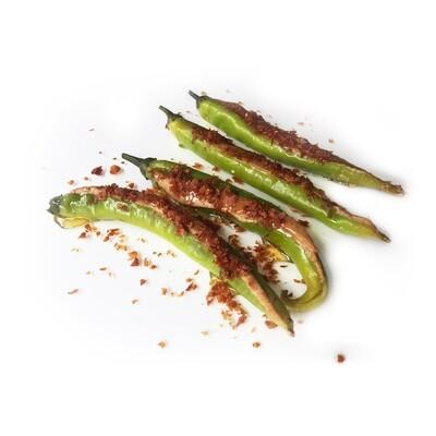 Chili Stuffed With Jamon Pate