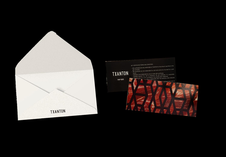 Txanton Gift Certificate