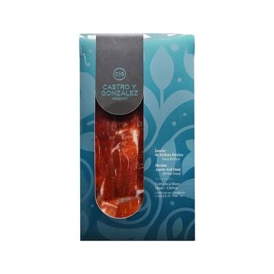 Jamon 100% Iberico de Bellota Premium Guijuelo Castro y Gonzalez Hand Carved 80g Pack (New Packaging)