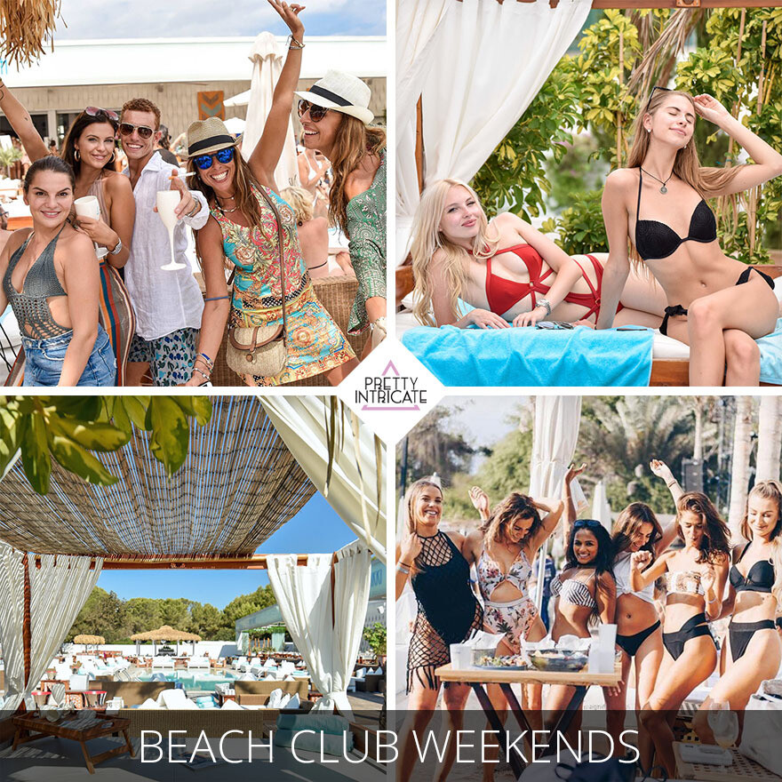 Beach club weekend with male strip show and boat party