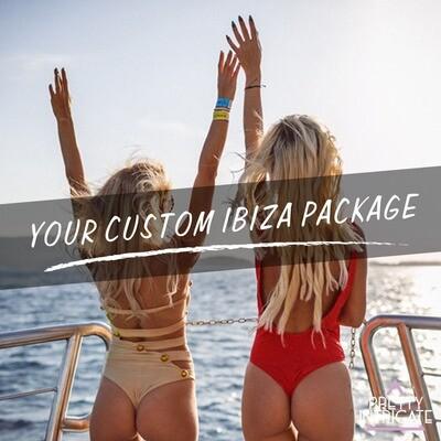 x & friends Ibiza boat package x 2020 (x attending)