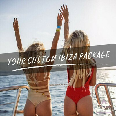 Paula & Friends Ibiza Birthday package (20 attending) Lead name Paula Pembele