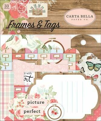Carta Bella Cardstock Ephemera 33/Pkg Frames & Tags, Farmhouse Market