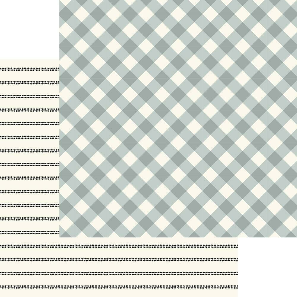 "Gingham Gardens Double-Sided Cardstock 12""X12""  Charlotte"