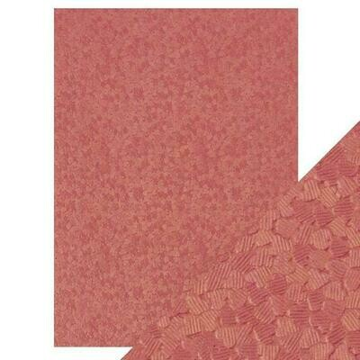 Craft Perfect - Hand Crafted Cotton Paper - Coral Confetti - A4(5/PK)