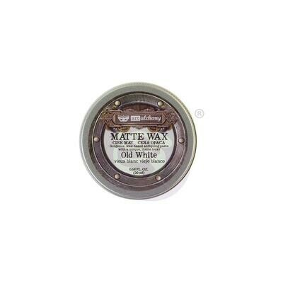 Finnabair Art Alchemy Matte Wax - Old White -  .68 Fluid Ounce